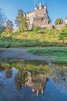 Eltz Castle and reflection, Moselle River, Rhineland, Germany 12th Century Castle