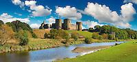 Rhuddlan Castle built in 1277 for Edward 1st next to the River Clwyd, Rhuddlan, Denbighshire, Wales