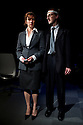 "© Jane Hobson. London, UK. 19/04/2011. ""Sold"", by Suzie Miller, opens at theatre503, London. Picture shows Abigail Thaw (as Hilary) and Jamie de Courcey (as Stan). Photo credit should read: JANE HOBSON"