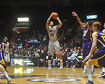 "Ole Miss guard Trevor Gaskins (23)  shoots at the C.M. ""Tad"" Smith Coliseum in Oxford, Miss. on Wednesday, February 9, 2011. Ole Miss won 66-60 and is now 4-5 in the Southeastern Conference."