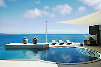 The infinity pool has views over the Koro Sea