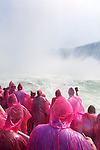People on a boat ride at Niagara Falls. Hornblower Niagara Cruises, Ontario, Canada 2014.