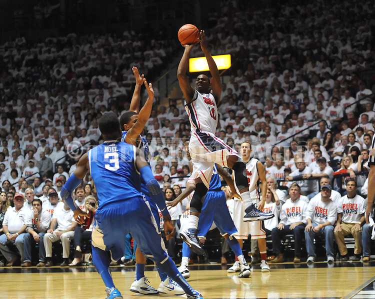 Ole Miss' LaDarius White (10) vs. Kentucky at the C.M. &quot;Tad&quot; Smith Coliseum on Tuesday, January 29, 2013.  (AP Photo/Oxford Eagle, Bruce Newman)..