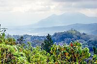 Java, East Java, Batu. View from the road from Batu to Kediri.