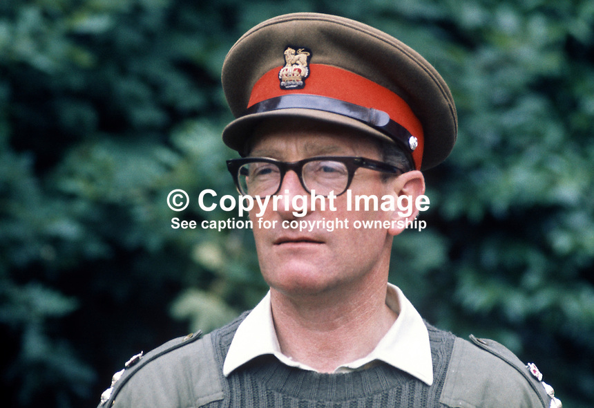 Brigadier Marston Tickell, Chief of Staff, British Army, in N Ireland during the Troubles. 197108000303MT2<br /> <br /> Copyright Image from Victor Patterson, 54 Dorchester Park, Belfast, UK, BT9 6RJ<br /> <br /> t: +44 28 90661296<br /> m: +44 7802 353836<br /> vm: +44 20 88167153<br /> e1: victorpatterson@me.com<br /> e2: victorpatterson@gmail.com<br /> <br /> For my Terms and Conditions of Use go to www.victorpatterson.com