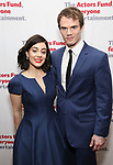 Meghan Picerno and Jay Armstrong Johnson attends The Actors Fund Annual Gala at the Marriott Marquis on 5/8//2017 in New York City.