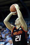 19 November 2014: Oklahoma State's Rylie Swanson. The University of North Carolina Tar Heels hosted the Oklahoma State University Cowgirls at Carmichael Arena in Chapel Hill, North Carolina in a 2014-15 NCAA Division I Women's Basketball game. UNC won the game 79-77.