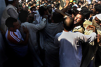 On the 22nd August 2008 an estimated 350,000 Kashmiri's marched to the Eidgha communal ground in Srinagar demanding Independence from India. Local Kashmiri's said they had never witnessed anything like it in their lifetime. .A brief moment of tension as marchers try to get as close as possible to the separatist leaders during the speeches....