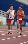 Dunkerley Jason obtient une deuxième médaille d'argent au 1500 mètres catégorie non voyant avec guide (Jean-Baptiste Benavent 22 septembre).