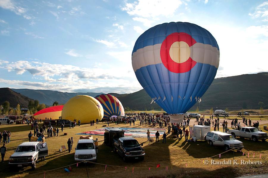 Colorado High balloon gets ready for takeoff, Snowmass Balloon Festival, Sept. 18-20, 2009