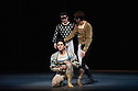 Canada's premier dance company The National Ballet of Canada returns to London after 26 years with its new production of Romeo and Juliet, which was created in 2011 to mark the company's 60th anniversary. Picture shows: Piotr Stanczyk (Mercutio), Guillaume Cote (Romeo) and Robert Stephen (Benvolio).