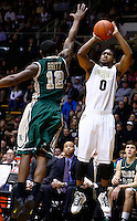 WEST LAFAYETTE, IN - DECEMBER 29: Terone Johnson #0 of the Purdue Boilermakers shoots against Brandon Britt #12 of the William &amp; Mary Tribe at Mackey Arena on December 29, 2012 in West Lafayette, Indiana. Purdue defeated William &amp; Mary 73-66. (Photo by Michael Hickey/Getty Images) *** Local Caption *** Terone Johnson; Brandon Britt