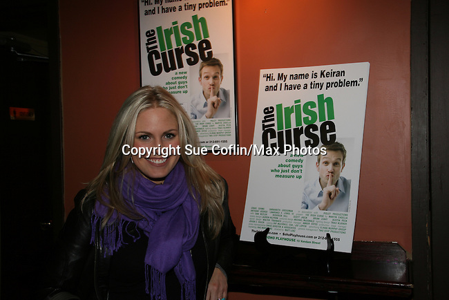 As The World Turns' Terri Colombino at the Opening Night of the off-Broadway play The Irish Curse on March 28, 2010 at the Soho Playhouse, New York City, New York. (Photo by Sue Coflin/Max Photos)