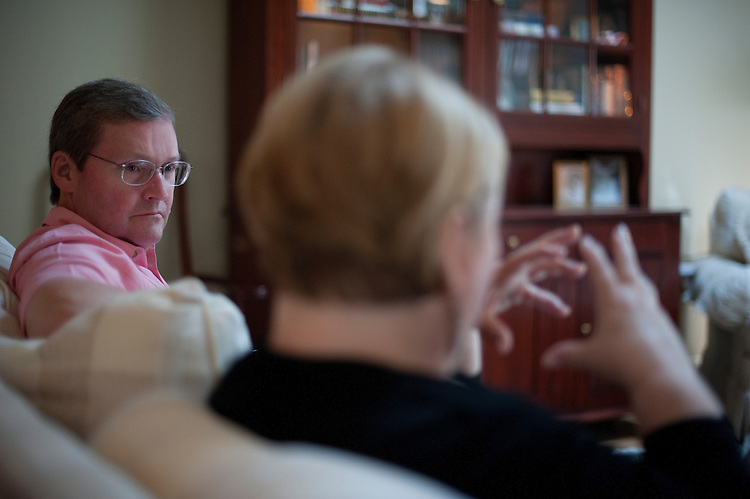 Interview with scandalized former Rep. John Doolittle and his wife Julie in their home in Oakton Virginia. The former congressmen is seeking new career options probably on K Street. June 23, 2010...