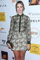 SANTA MONICA, CA, USA - OCTOBER 26: Natasha Bassett arrives at the 3rd Annual Australians in Film Awards Benefit Gala held at the Starlight Ballroom at Fairmont Miramar Hotel & Bungalows on October 26, 2014 in Santa Monica, California, United States. (Photo by Xavier Collin/Celebrity Monitor)