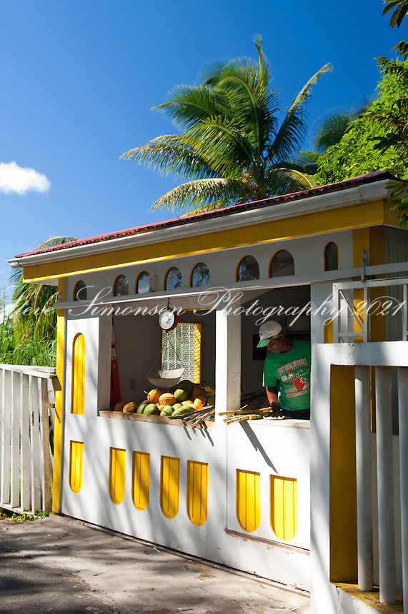The Cane Juice stand on Centerline   <br /> St. Croix, US Virgin Islands