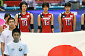 (L to R) Nana Iwasaka, Saori Kimura, Maiko Kano (JPN), .May 26, 2012 - Volleyball : .FIVB Women's Volleyball World Final Qualification for the London Olympics 2012 .match between Japan 0-3 Russia .at Tokyo Metropolitan Gymnasium, Tokyo, Japan. .(Photo by Daiju Kitamura/AFLO SPORT) [1045]