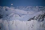 Moonrise, Fairweather Range, Alaska