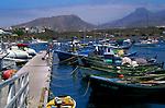 Fishing boat leaving the port. Las Galletas,Tenerife, Canary Islands, Spain