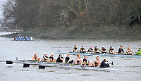 London, Great Britain,  Osiris BC, Oxford  University Women's BC. A, rowing past Chiswick Pier, during the 2012 Head of the River Race, raced over Rowing Course Championship course,  Mortlake to Putney  4.25 Miles, on the River Thames Saturday  03/03/2012 [Mandatory Credit: © Peter Spurrier/Intersport Images]