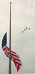 CONTACT  FILED:  MEMORIAL DAY-HOUSTON..5/28/01-- A flight of F-16 Fighting Falcons from the 147th Air National Guard fighter wing did a ``fly over'' during the Memorial Day ceremonies at Houston National Cemetery on Veterans Memorial Dr. (Steve Campbell/ Chronicle).     HOUCHRON CAPTION (05/29/2001):  The flag in the Houston National Cemetery flutters at half-staff Monday as F-16s from the Texas Air National Guard do a flyover during a Memorial Day ceremony honoring military dead and the deputy and police officer who were slain last week.     HOUCHRON CAPTION (05/24/2002):  F-16 Fighting Falcons from the 147th Air National Guard honor last year's Memorial Day with a flyover at ceremonies at the Houston National Cemetery, where the flag flies at half-staff to honor those who died in the service of the country. ..
