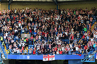 Sunderland fans celebrate scoring at Chelsea during Chelsea vs Sunderland AFC, Premier League Football at Stamford Bridge on 21st May 2017