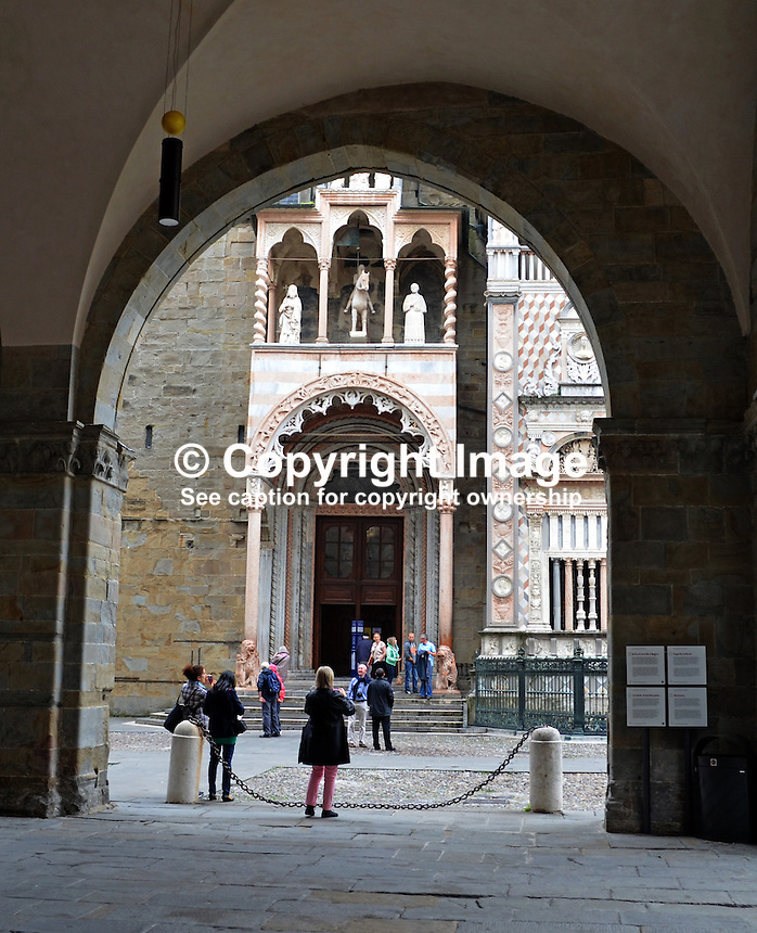 Entrance, Cattedrale di Bergamo e Battistero, Bergamo, Italy, 20110073794<br /> <br /> Copyright Image from Victor Patterson, 54 Dorchester Park, Belfast, UK, BT9 6RJ<br /> <br /> t: +44 28 9066 1296<br /> m: +44 7802 353836<br /> vm +44 20 8816 7153<br /> <br /> e1: victorpatterson@me.com<br /> e2: victorpatterson@gmail.com<br /> <br /> www.victorpatterson.com<br /> <br /> IMPORTANT: Please see my Terms and Conditions of Use at www.victorpatterson.com