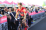 Lotto-Soudal at the Team Presentation in Alghero, Sardinia for the 100th edition of the Giro d'Italia 2017, Sardinia, Italy. 4th May 2017.<br /> Picture: Eoin Clarke | Cyclefile<br /> <br /> <br /> All photos usage must carry mandatory copyright credit (&copy; Cyclefile | Eoin Clarke)