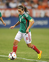 Lupita Worbis (8) of Mexico. The USWNT defeated Mexico 7-0 during an international friendly, at RFK Stadium, Tuesday September 3 , 2013.
