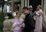 Actors from the cast of &quot;An Ideal Husband&quot; rehearsed at Terrace Hill, the governors mansion in Des Moines, Ia. in 2006.  The play kicked off a new series of performances to benefit the restoration/upkeep of the governor's mansion.  From left are Nancy Zubrod, Kerry Skram, Mark Gruber, David Oddy and Suzie Oddy.