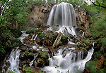Falling Spring Falls, Bath County, Virginia. A spring fed stream in mountains near the Western border of Virginia.