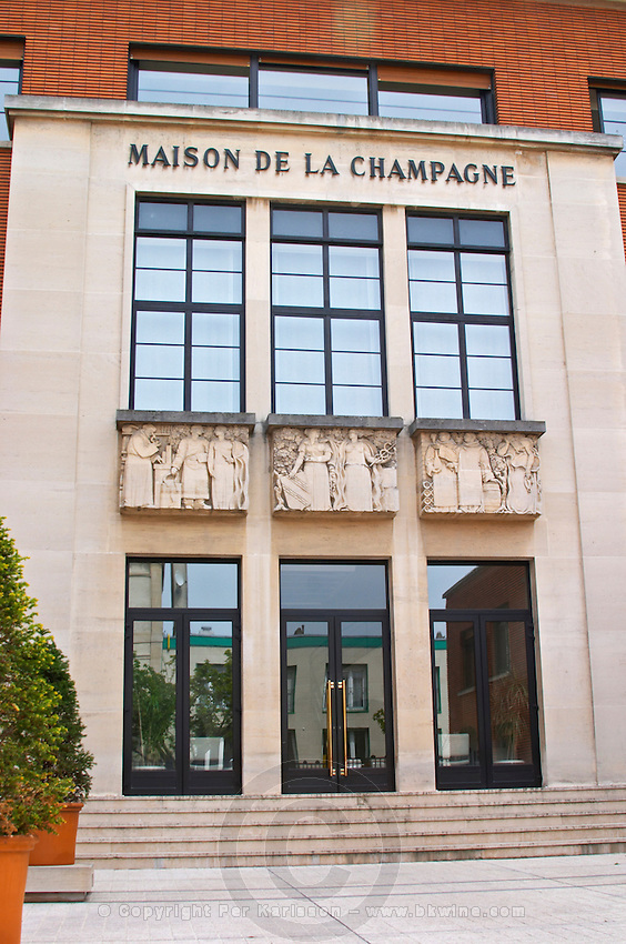 The Maison de la Champagne (House of the Champagne Region), the head quarters of the CIVC in Epernay (Comite Interprofessionnel du Vin de Champagne), Champagne, Marne, Ardennes, France