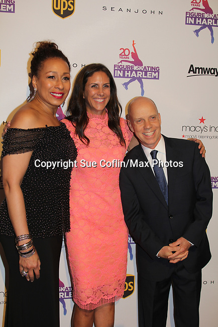 Figure Skating in Harlem celebrates 20 years - Champions in Life benefit Gala on May 2, 2017 and presenting Scott Hamilton with The Power of Inspiration Award at 583 Park Avenue, New York City, New York. Attending are Meryl Davis, JoJo Starbuck. (Photo by Sue Coflin/Max Photos)