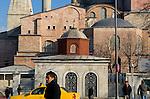 Exterior view of Aya Sofia, Istanbul, Turkey