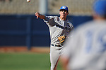 Memphis shortstop Chad Zurcher throws out a runner at first at Oxford University Stadium in Oxford, Miss. on Tuesday, February 22, 2011.