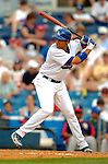 19 March 2006: James Loney, infielder for the Los Angeles Dodgers, at bat during a Spring Training game against the Washington Nationals at Holeman Stadium, in Vero Beach, Florida. The Dodgers defeated the Nationals 9-1 in Grapefruit League play...Mandatory Photo Credit: Ed Wolfstein Photo..