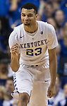 Guard Jamal Murray celebrates a shot during the game against the Florida Gators at Rupp Arena on February 6, 2016 in Lexington, Kentucky. Kentucky defeated Florida 80-61.