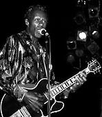 Chuck Berry, LIVE, 1986;<br /> Photo Credit: David Plastikl\AtlasIcons.com