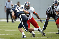 HOUSTON, TX - OCTOBER 13, 2012: The University of Texas at San Antonio Roadrunners versus The Rice University Owls Football at Rice Stadium. (Photo by Jeff Huehn)