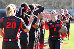 19 February 2017: Ohio State's Alex Bayne (2). The Ohio State University Buckeyes played the University of Louisville Cardinals at Anderson Family Softball Stadium in Chapel Hill, North Carolina as part of the ACC/Big 10 College Softball Challenge. OSU won the game 4-3.
