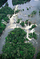 Tropical nature: aerials: rainforest, rainstorm, waterfall, Amazon floodplain, biodiversity