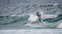 Snapper Rocks, Coolangatta Queensland Australia (Sunday, March 13 2016): Kanoa Igarashi (USA) - Round Two of the first WCT event of the year, the Quiksilver Pro Gold Coast, was called on this morning with a number of top seeds hitting the water. In a day up upsets the Tour Rookies took out a good proportion of the heats with Stu Kennedy(AUS) defeating Kelly Slater (USA), Conner Coffin (USA) knowing out Kai Otton and Ryan Callinan  (AUS) eliminating Jordy Smith (ZAF) The event was put on hold for over 4 hours while organisers waited for conditions to improve. The surf was in the 3'-4' range most of the day.Photo: joliphotos.com