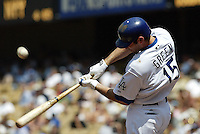 Shawn Green In an MLB game played at Dodger Stadium where the Los Angeles Dodgers defeated the Colorado Rockies 4-3