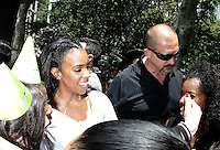 NEW YORK, NY - JUNE 22:    Kelly Rowland greets fans at the Breyers Ice Cream 150th Birthday Blowout celebration in Madison Square Park in New York, New York on June 22, 2016.  Photo Credit: Rainmaker Photo/MediaPunch