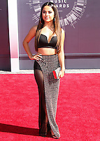 LOS ANGELES, CA, USA - AUGUST 24: Becky G at the 2014 MTV Video Music Awards held at The Forum on August 24, 2014 in the Los Angeles, California, United States. (Photo by Xavier Collin/Celebrity Monitor)