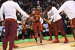 MILWAUKEE, WI - MARCH 18: Iowa State Cyclones guard Monte Morris (11) runs out during his introduction during the 2017 NCAA Men's Basketball Tournament held at BMO Harris Bradley Center on March 18, 2017 in Milwaukee, Wisconsin. (Photo by Jamie Schwaberow/NCAA Photos via Getty Images)