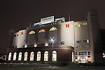 Looming large in the skyline of Lincoln, Nebraska is Memorial Stadium, home of the University of Nebraska Cornhuskers football team. This view shows the newest addition to the stadium, the Tom Osborn Athletic Center. Named for long time coach Tom Osborn, the center features a new weight room and other fitness activities for student athletes.