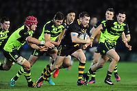 JJ Hanrahan of Northampton Saints goes on the attack. European Rugby Champions Cup match, between Northampton Saints and Leinster Rugby on December 9, 2016 at Franklin's Gardens in Northampton, England. Photo by: Patrick Khachfe / JMP
