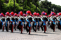 Rome  June 2  2006.Republic Day..Italian Carabinieri march during the militaryparade