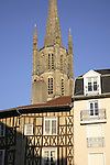 St Michel des Lions Church and Typical City House, Limoges, Haute Vienne, France